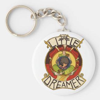 El pequeño logotipo del funcionario del soñador llavero redondo tipo pin