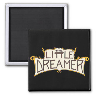 El pequeño logotipo del negro del soñador imán cuadrado