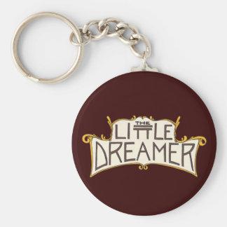 El pequeño logotipo del negro del soñador llavero redondo tipo pin
