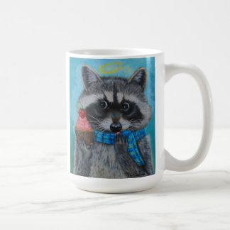 """El pequeño mapache de la """"magdalena divina """" ama taza de café"""