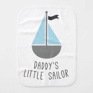 El pequeño marinero del papá paños para bebé
