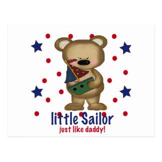 El pequeño marinero tiene gusto del papá tarjetas postales