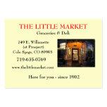 El pequeño mercado tarjetas de visita