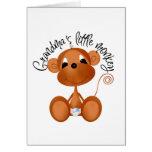 El pequeño mono de la abuela - camisetas y regalos tarjeta