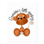 El pequeño mono de la abuela - camisetas y regalos postal