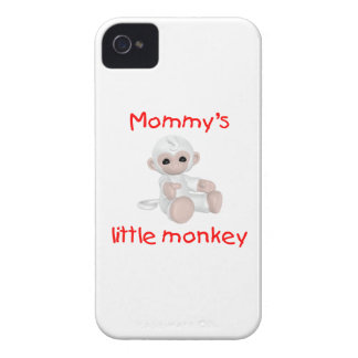 El pequeño mono de la mamá blanco