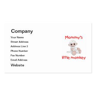 El pequeño mono de la mamá (blanco) tarjetas de visita