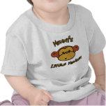El pequeño mono de la mamá camisetas