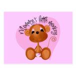 El pequeño mono de la mamá - camisetas y regalos postal