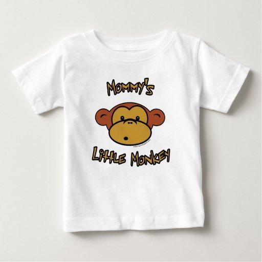 El pequeño mono de la mamá poleras