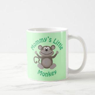 El pequeño mono de la mamá tazas de café