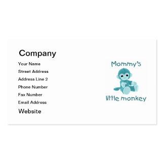 El pequeño mono de la mamá (trullo) tarjetas de visita