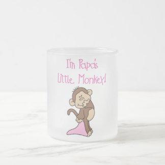 El pequeño mono de la papá - camisetas y regalos taza de cristal
