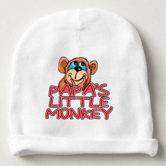 El pequeño mono de la papá gorrito para bebe