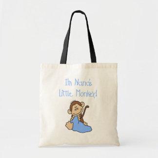 El pequeño mono de Nana - camisetas y regalos azul Bolsa Tela Barata