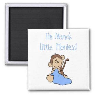 El pequeño mono de Nana - camisetas y regalos azul Imán De Frigorífico