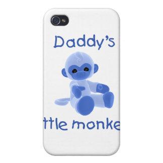 El pequeño mono del papá azul iPhone 4 protectores