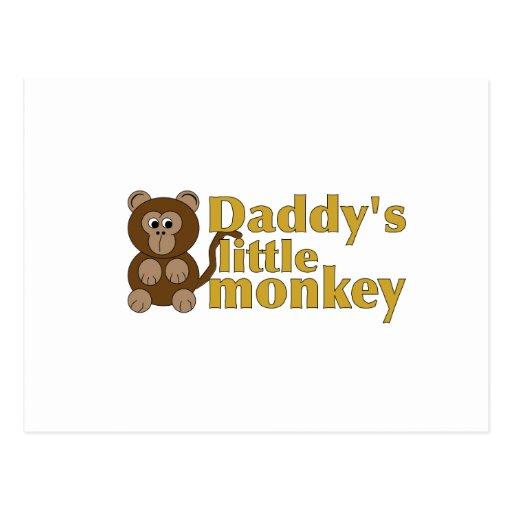 El pequeño mono del papá postales