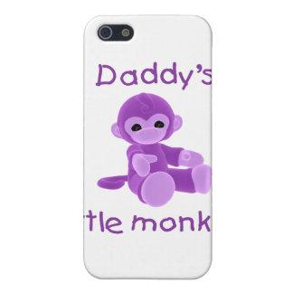 El pequeño mono del papá púrpura iPhone 5 carcasa