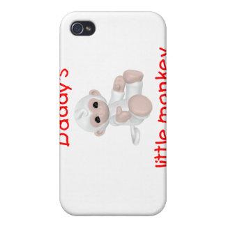 El pequeño mono del papá rojo iPhone 4 protectores