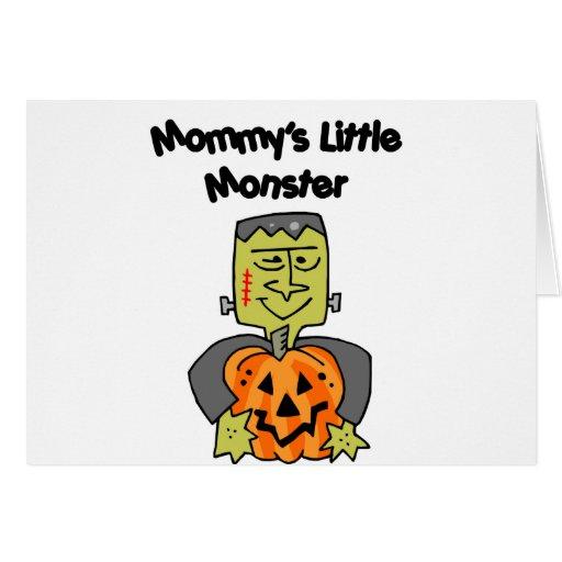 El pequeño monstruo de la mamá tarjeta de felicitación