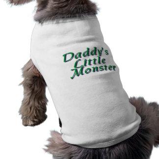 El pequeño monstruo del papá camisas de mascota