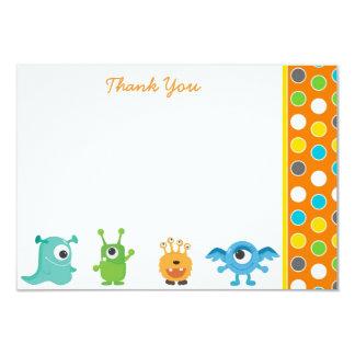"""El pequeño monstruo le agradece las tarjetas de invitación 3.5"""" x 5"""""""
