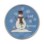 """El pequeño muñeco de nieve """"lo dejó nevar"""" - caram jarrones de caramelos"""