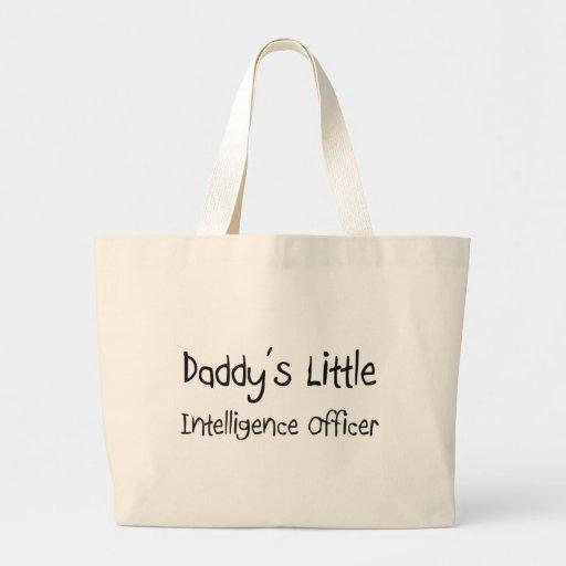 El pequeño oficial de inteligencia del papá bolsa tela grande
