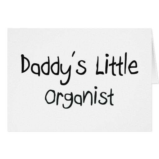 El pequeño organista del papá felicitación