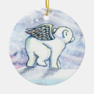 El pequeño oso polar Cub adorna Ornamentos Para Reyes Magos