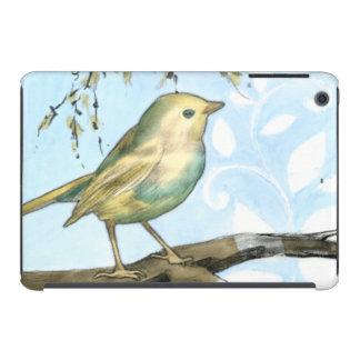 El pequeño pájaro amarillo se encaramó en una rama fundas de iPad mini retina