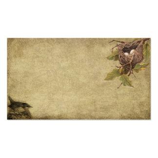 El pequeño pájaro y birdnest tarjetas de visitas r