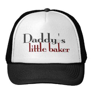 El pequeño panadero del papá gorras de camionero