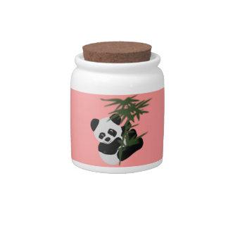 El pequeño panda jarras para caramelos