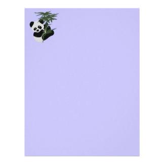 El pequeño panda plantilla de membrete