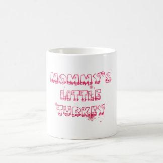 El pequeño pavo de la mamá - navidad especial taza básica blanca