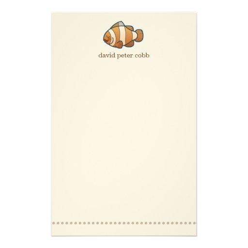 El pequeño pescado del payaso personalizado embrom papeleria de diseño