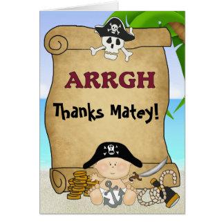 El pequeño pirata de Bucanero le agradece cardar Felicitación