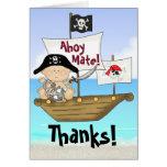 El pequeño pirata de Bucanero le agradece cardar Tarjeton