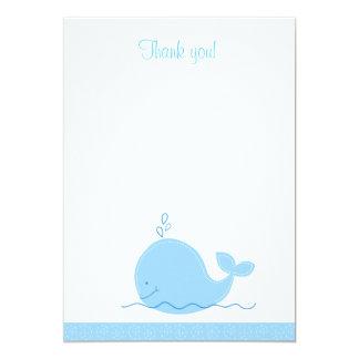 """El pequeño plano de la ballena azul le agradece invitación 5"""" x 7"""""""