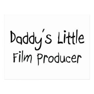 El pequeño productor cinematográfico del papá tarjetas postales