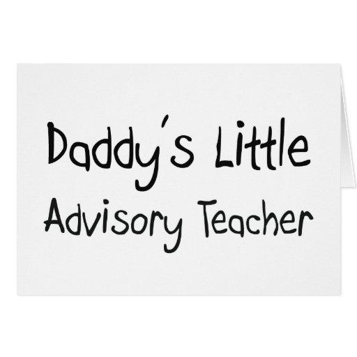 El pequeño profesor consultivo del papá tarjetón