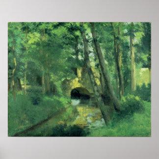 El pequeño puente, Pontoise, 1875 Póster