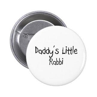 El pequeño rabino del papá pin redondo de 2 pulgadas
