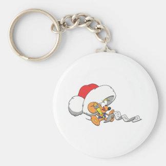 El pequeño ratón de Santa Llavero Redondo Tipo Pin
