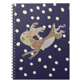 El pequeño reno libro de apuntes con espiral