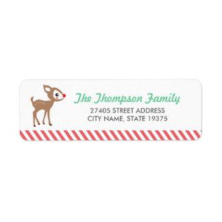 El pequeño reno por Origami imprime etiquetas de d Etiqueta De Remite