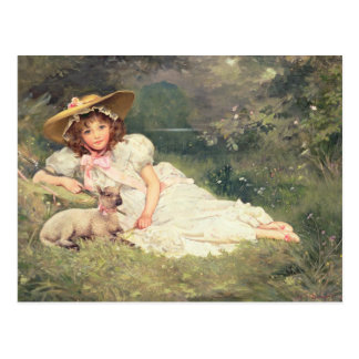 El pequeño Shepherdess Tarjeta Postal