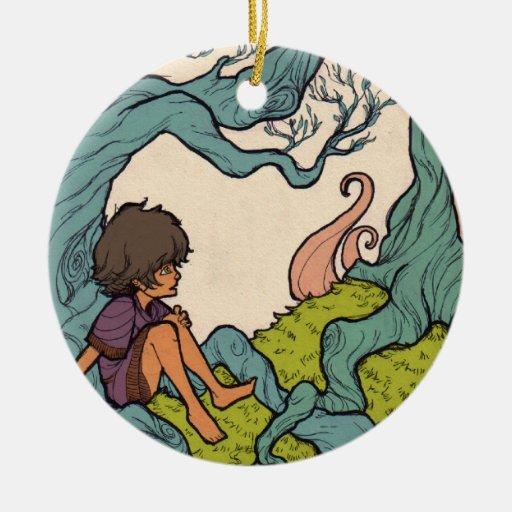 El pequeño soñador - ciudad debajo del lago 1 de 2 ornamento de navidad